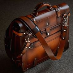 This is a custom order handmade briefcase, please provide time for design and production. Business Briefcase, Briefcase For Men, Leather Briefcase, Leather Backpack, Leather Wallet, Men Wallet, Bags Travel, Mens Travel Bag, Leather Bags Handmade