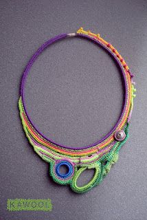 Beautiful! [Necklace] Freeform crochet by Catherine Pareira of Kawool
