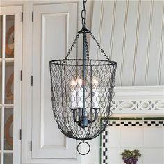 Shabby Chic Chicken Coop | Shades of Light Chicken Wire Smokebell Lantern