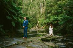 A barefoot bride & her long-sleeved Mariana Hardwick Wedding Dress for A Romantic Forest Elopement   itakeyou