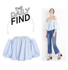 """""""The Daily Find: New Revival Top"""" by polyvore-editorial ❤ liked on Polyvore featuring DailyFind"""
