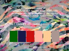 SS2017 Trend Forecasting for Women, Men, Intimate, Sport Apparel - Mixed the mood of Vintage floral and Sensible shape that create an amazed picture to freshen up the coming Spring Summer 2017 www.FashionWebGraphic.com