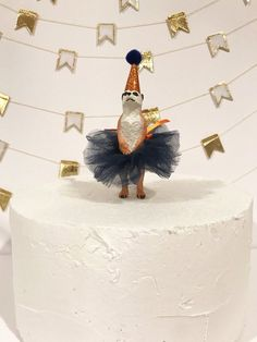 birthday party decorations This sweet little Merrkat is all ready in her party tutu adorned with a bow and glitter party hat. She is the perfect touch to your wildl Ballerina Party Decorations, 50th Birthday Party Decorations, Ballerina Birthday Parties, Party Centerpieces, Diy Birthday, Birthday Cake, Party Animals, Animal Party, Ballerina Centerpiece