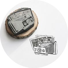 """handmade wedding polaroid stamp from """"this is just to say"""" stamps :)"""
