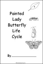 Printable Book about the Painted Lady Butterfly