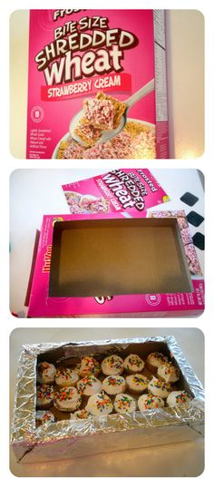 Make a cupcake or cookie holder out of an old cereal box and don't worry about getting it back!