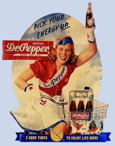 Dr Pepper ad #vintage #fifties #ads