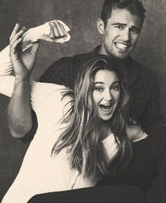 They are so cute! <3 Shailene Woodley and Theo James -- Divergent.