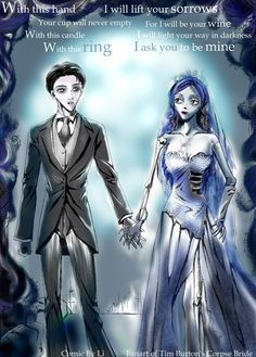 Victor and Emily the Corpse Bride in Anime style Tim Burton Art, Tim Burton Style, Tim Burton Films, Corpse Bride Art, Emily Corpse Bride, Ghost Bride, Bride Pictures, Female Superhero, Gothic Art