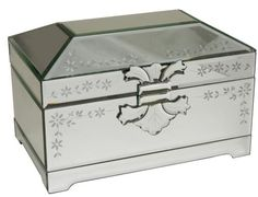 Coated Venetian mirror, the Stardust casket shaped like a chest