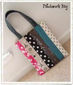 patchwork totebag... very cute want to make this