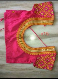 Cutwork Blouse Designs, Simple Blouse Designs, Embroidery Neck Designs, Hand Embroidery Videos, Saree Accessories, Mirror Work Blouse Design, Kutch Work Designs, Rangoli Designs With Dots, Blouse Models