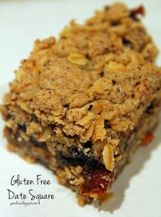 Jo and Sue: Gluten Free Date Square (every bit as good as the original bar!)