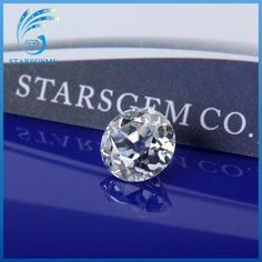 7MM Old European Cut Synthetic Created Moissanite Loose Gemstone.