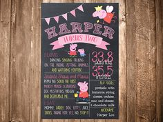 Hey, I found this really awesome Etsy listing at https://www.etsy.com/listing/247005296/peppa-pig-first-1st-birthday-second-2nd