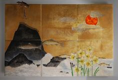 Hiroshi Yamano The daffodils by the ocean in Winter #1, 2015 27 x 40.5 x 6.5 inches Available
