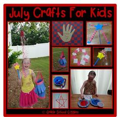 10 fun July crafts for kids from Grade School Giggles.