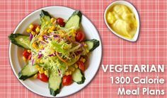 Our 1300 Calorie Diet Meal Plans for losing 20 lbs in 6 weeks are extremely popular with our visitors and we get a number of requests for vegetarian meal plans. We bring you here, a week of meal plans for vegetarians to follow the 1300 calorie diet and lose weight with a six week diet …