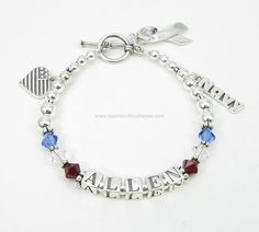 Deployment Bracelet® to show Allen that he is being supported and to help Amy stay connected while he is deployed.