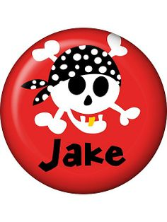 Pirate Birthday Personalized Mini Magnet