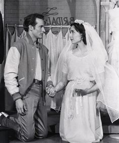 """Larry Kert and Carol Lawrence, from the original """"West Side Story"""