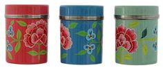 Floral Enamel Canisters