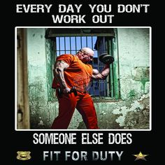 This is our version of the popular Police Motivation Workout Poster. The photos from this poster were shot in an abandoned… Police Test, Police Academy, Police Duty Belt, Prison Humor, High Stress Jobs, Law Enforcement Jobs, Enforcement Officer, Police Officer Requirements, Exams Tips