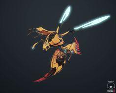 Wasp Attack Unit, Sebastián Montecinos on ArtStation at https://www.artstation.com/artwork/wasp-attack-unit