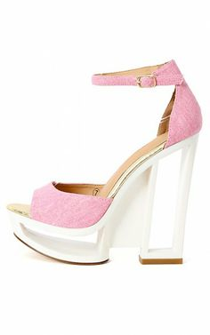 Dolce-4 Ankle Strap Cut Out Heels