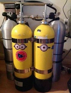 Love these Minion dive tanks!