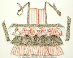 Ruffles & buttons apron tutorial, I'm going to the thrift store to find shirts with interesting patterns for this!