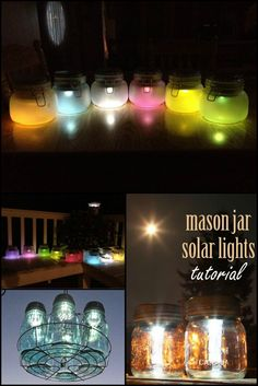 How To Make Mason Jar Solar Lanterns  http://theownerbuildernetwork.co/2h7i  These mason jar solar lights are definitely cute come night time.   Why not make a few for yourself?