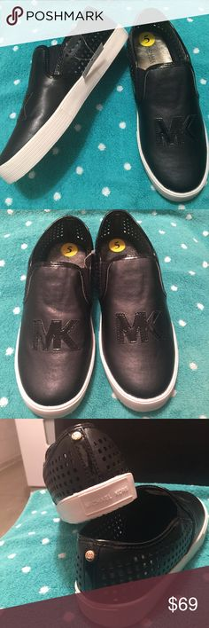 Michael Kors logo sneakers us 5 Brand new beautiful sneakers with brand logo. Authentic. Will accept reasonable offers. Part of the tags still attached. First 4 photos shows actual model Michael Kors Shoes Sneakers