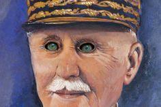 art modeste, art singulier,brocante,peinture,maréchal Pétain