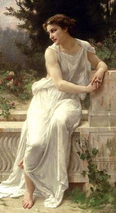 Guillaume Seignac. Young Woman of Pompeii on a Terrace (before 1924).
