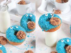 Miss Blueberrymuffin's kitchen: Krümelmonster Donuts...Omnomnom!