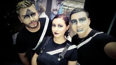 Dia Tematico #MakeUp Geometrico en  #MacTijuana Con Mis 2 Compañeros ...  #ChristianDayan #MACboy #MakeUpChristianDayan