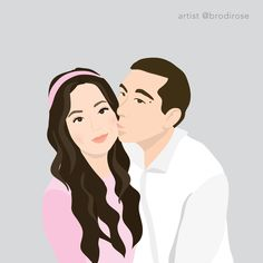 Order your custom, one-of-a-kind illustration. Illustrated by a professional designer in a modern, block colour style. Perfect for a gift, to use on social media or as a print in your home/office. Digital Illustration, Vector Art, Color Blocking, Disney Characters, Fictional Characters, Social Media, Illustrations, Colour, Disney Princess