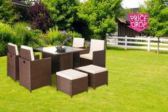 instead from furniture italia for a napoli nine piece rattan cube set choose black or brown and save