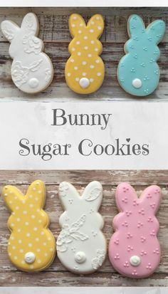 Bunny Cookies Easter cookies Basket gift ideas #affiliate