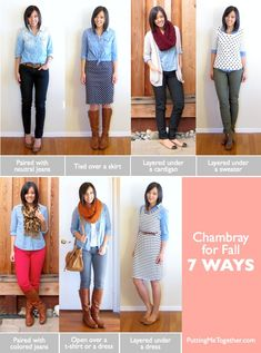 How to Wear Chambray for Fall - 7 Style Tips - Putting Me Together