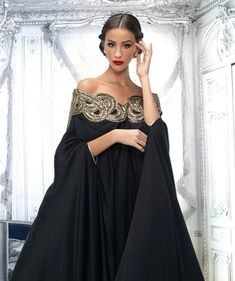 Black gown with gorgeous detailing