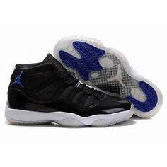 41246798e25be8 Chaussures Air Jordan 11 Blanc  Noir  Bleu -   Nike Chaussure Pas Cher