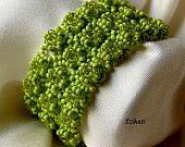 Beaded pearl bracelet seed bead jewelry bridal jewelry by Szikati