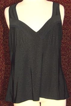 GILLIGAN & O'MALLEY black stretch polyester sleeveless blouse XXL (T49-01F6G) #GilliganOmalley #Blouse #Casual