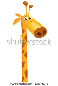 Vector illustration by Drawkman Giraffe Illustration, Funny Giraffe, Funny Cartoons, Decor, Decoration, Decorating, Cute Cartoon, Deco, Funny Comics