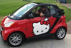 Red Hello Kitty Smart Car