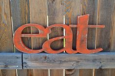 Eat Sign Kitchen Wall Words Wooden by ALittleMiscellany on Etsy Eat Kitchen Sign, Kitchen Letters, Wood Letters, Kitchen Decor, Kitchen Items, Wooden Name Signs, Wooden Names, Eat Sign, Nursery Letters