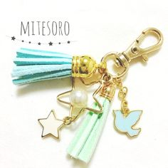 Resale ♡ Blue bird ♡ Blue Bird ♡ bag Charm mini ♡ double star called happiness