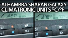 How to change temperature units #Sharan #Galaxy #Alhambra #Climatronic VW Ford Seat #cars
